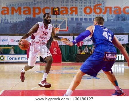 Bc Krasnye Krylia Forward Julian Wright (30) With Ball