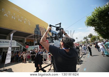 CANNES, FRANCE - MAY 17: A general view of atmosphere on during the 69th Annual Cannes Film Festival on May 17, 2016 in Cannes, France.