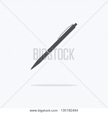 Pen. Icon pens on a light background. Vector illustration.