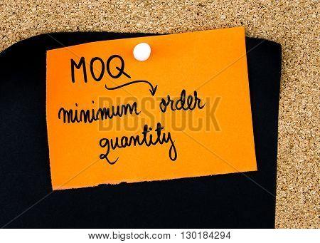 Business Acronym Moq As Minimum Order Quantity
