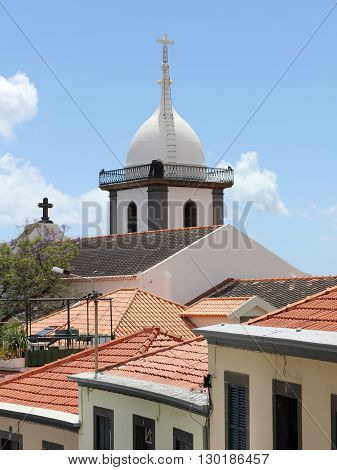 The Igreja de Santa Maria Maior - or Socorro Church - in the historic district of Santa Maria in Funchal on Madeira was built in the 18th century.