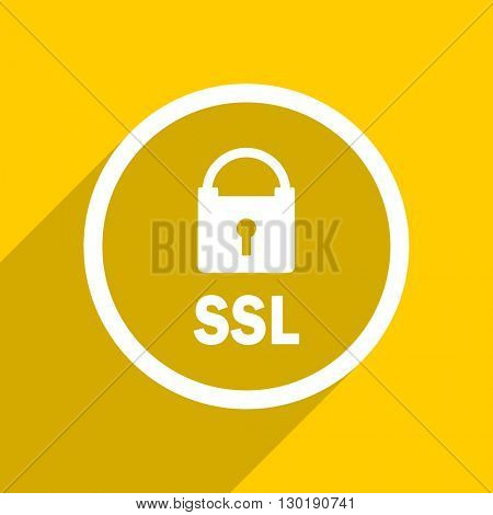 yellow flat design ssl web modern icon for mobile app and internet