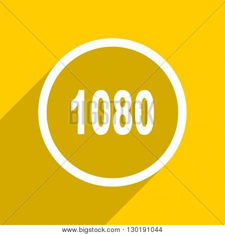 yellow flat design 1080 web modern icon for mobile app and internet