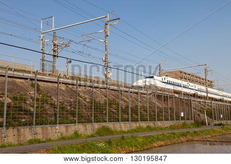 Nagoya, JAPAN - May 02, 2016 : Shinkansen bullet train in Japan on May 02, 2016 in Nagoya Japan.