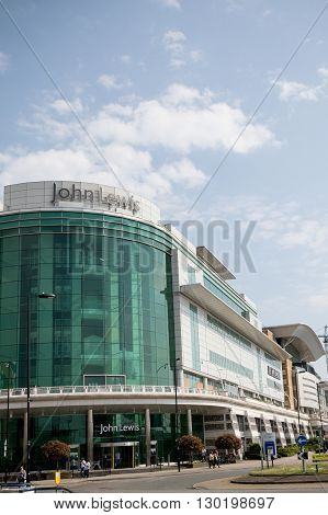 Southampton UK - 14th May 2016. The john Lewis department store located in the West Quay shopping centre Southampton.
