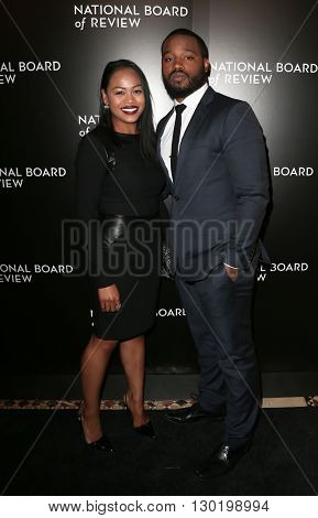 NEW YORK-JAN 5: Director Ryan Coogler (R) and Zinzi Evans attend the 2015 National Board of Review Gala at Cipriani 42nd Street on January 5, 2016 in New York City.
