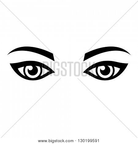 woman eyes isolated on white