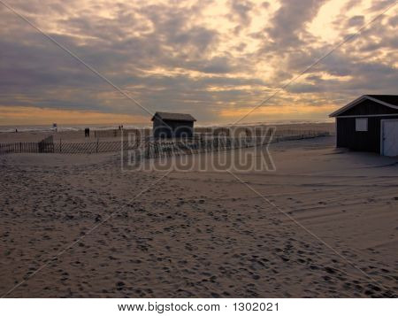 Cabins At Sunset
