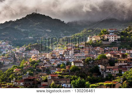 Agros village on top of the Troodos Mountains. Limassol District Cyprus.