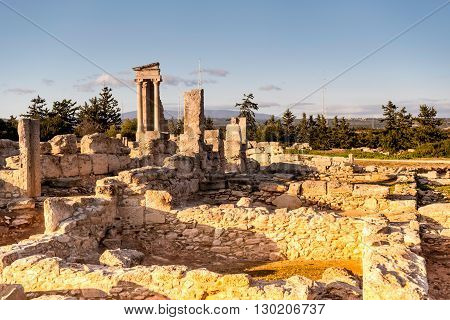 The temple of Apollo at Kourion. Limassol District Cyprus.