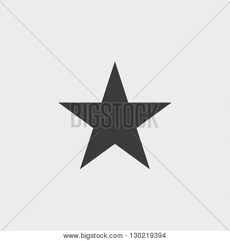 Clasic star Icon in black color. Vector illustration eps10