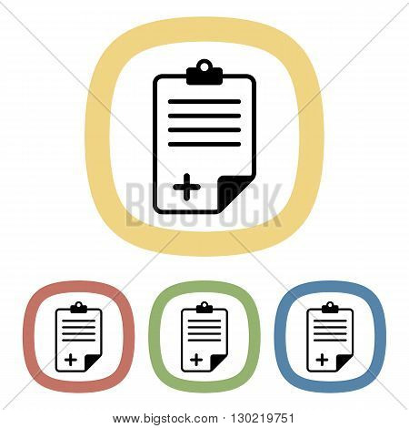 Document colorful icon. Vector illustration of document set