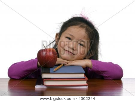 Education Series (Books And Apple)