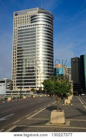 TEL AVIV, ISRAEL - MAY 26: Modern cityscape of Ramat Gan on May 26, 2016 in Tel Aviv.