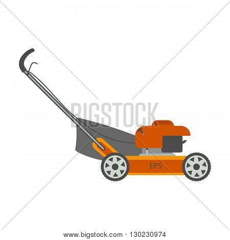 Lawn mower vector illustration Isolated On White Background