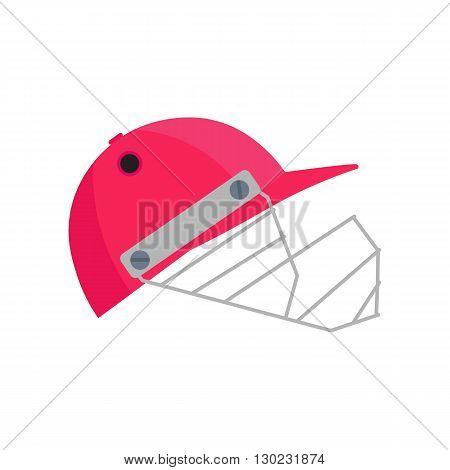 Cricket helmet illustration. Cricket helmet on white background. Cricket helmet vector. Helmet illustration. Cricket helmet vector