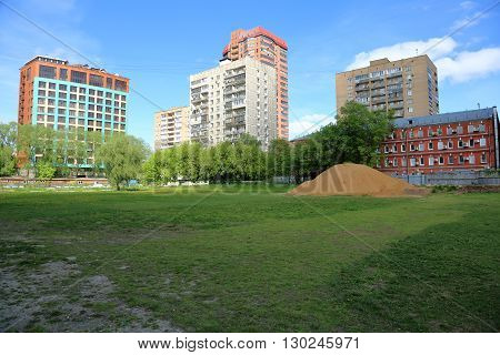 Pile Of Sand On A Vacant Lot