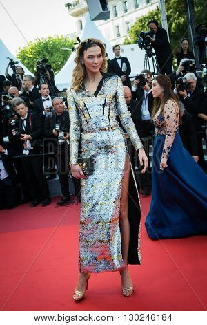 Karlie Kloss  attends the 'Julieta' premiere at the 69th Festival de Cannes. May 17, 2016  Cannes, France