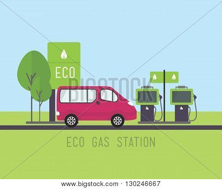 Vector Eco Concept Illustration, Flat Eco Design
