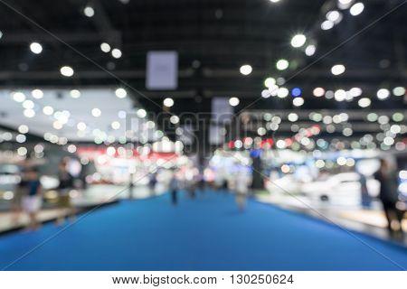Blurred defocused background of public event exhibition hall