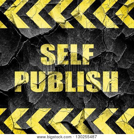 self publishing, black and yellow rough hazard stripes