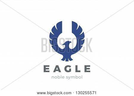 Eagle bird Logo abstract vector. Flying Falcon Hawk Phoenix