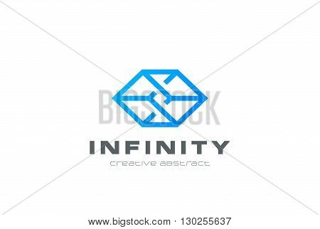 Logo abstract geometric design. Business technology impossible