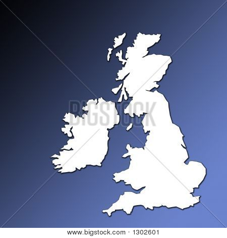 Uk And Ireland Map Outline