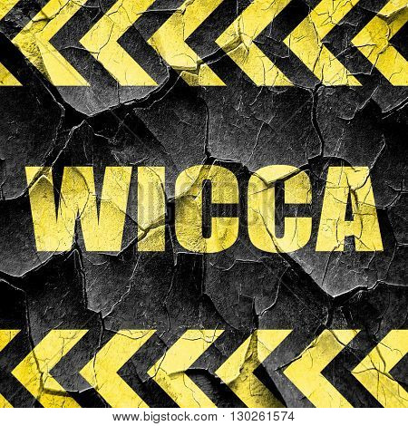 wicca, black and yellow rough hazard stripes