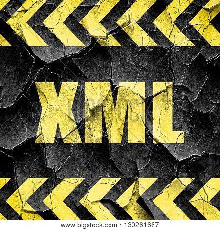 xml, black and yellow rough hazard stripes