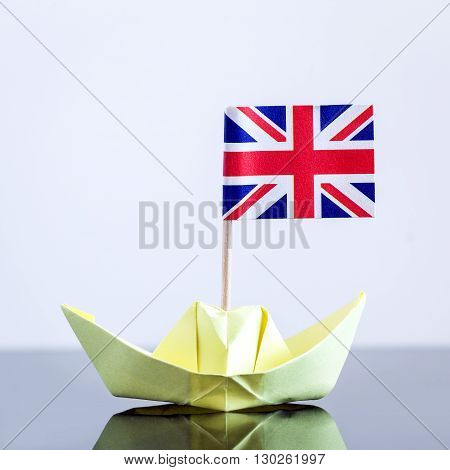 Paper Ship With British Flag