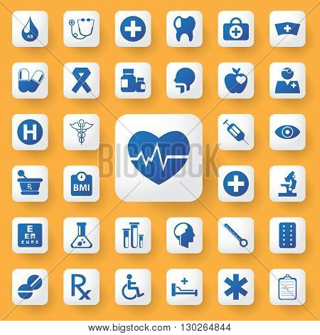 App icon Medical Icons set. vector illustration.