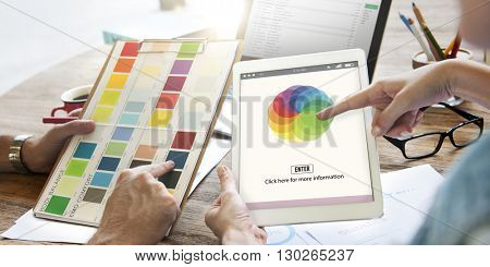 Palette Spectrum Range Creativity Graphics Concept poster