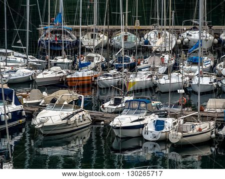 port and anchorage of sailboats