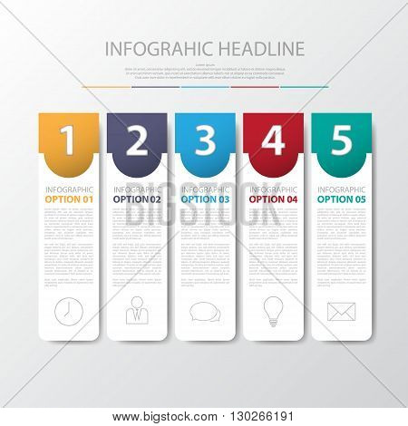 Design Flat Shadow Step Number Banners /graphic Or Website .vector/illustration.