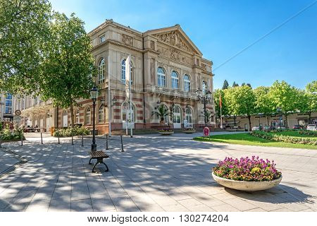 The theater building. Baden-Baden. Germany. Built in 1860-1862 years