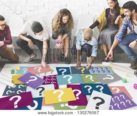 Question Mark Asking Curious Confuse Riddle Puzzle Concept