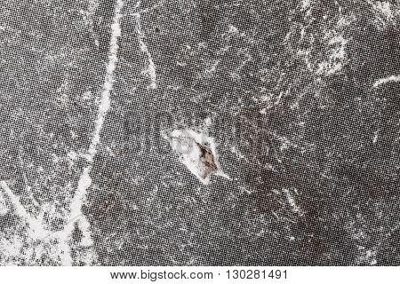 Old damaged paperboard textured background. Grey color