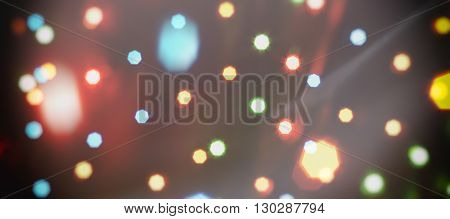 bokeh colorful neon background (dots abstract wallpaper)