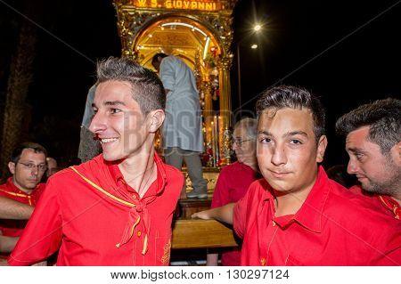 Aci Trezza, Italy - June, 24 2014 - San Giovanni Traditional Parade Celebration