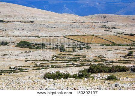 Island of Krk Moon plateau desert Croatia
