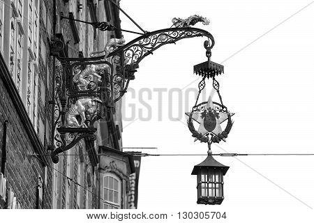 Animals Musician Iron Sign