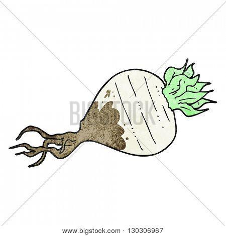 freehand drawn texture cartoon turnip