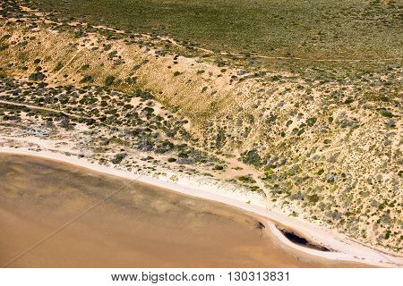 Denham Aerial View In Shark Bay Australia