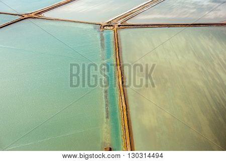 Saline Aerial View In Shark Bay Australia