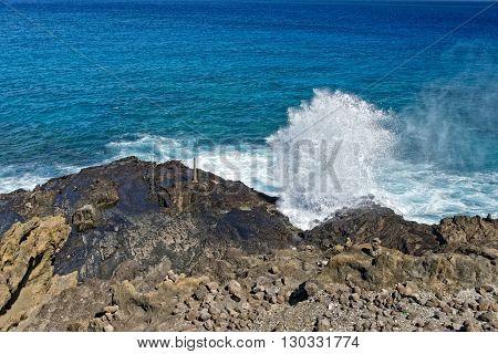 Blow Hole In Hawaii