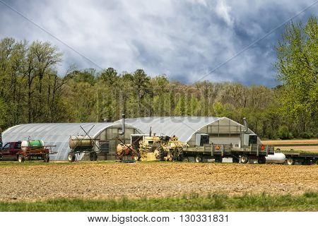 farm in maryland on cloudy day view
