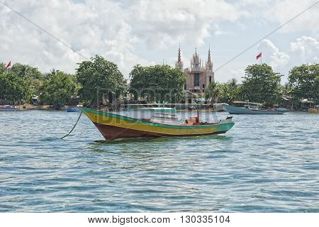 A Church On Indonesian Fishermen Village Beach