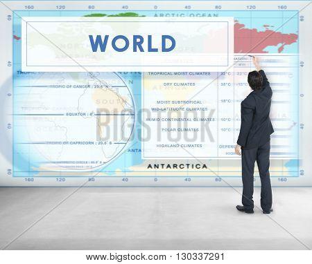 Longtitude Latitude World Cartography Concept poster