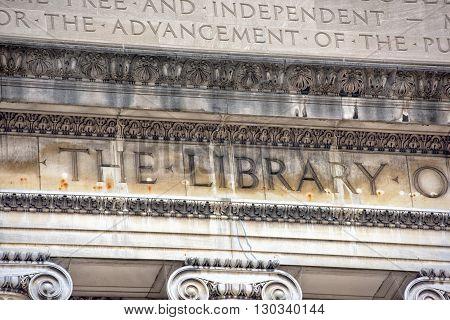 Columbia University Library In New York